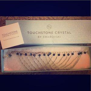Swarovski blue necklace by touchstone crystal